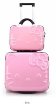 Girls Hello Kitty ABS+PC Travel Suitcase Set Luggages 13''/20'' Luggages Pink/Roseo Colors(China (Mainland))