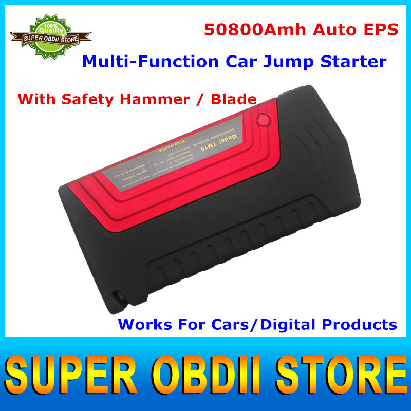 Multifunction 12V Car Portable Mini Jump Starter 50800mAh Car Emergency Start Charger For Mobile Phone/ Laptop Power Bank(China (Mainland))