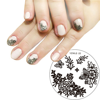YZWLE 1 Pc Various Butterfly Flower Nail Art Stamping Template Image Plate