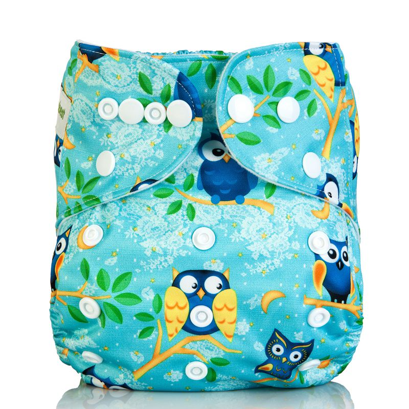 New Baby Cloth Diaper Cover Adjustable Washable Cloth Nappy Reusable Nappies Pocket Newborn Infant Carton Owl Nappy 1 Pcs(China (Mainland))