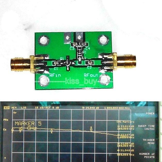 0.1-2000MHz 30dB Low Noise Broadband RF Receiver Amplifier Signal Amplifier LAN FM HF VHF / UHF Ham Radio 6v-12VDC(China (Mainland))