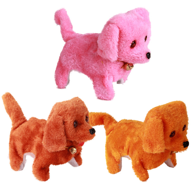 1pc Electronic Dog Toy Fast Delivery New Battery Powered Steel Colorful Plush Walking Barking Electronic Dogs Xmas Birthday Toys(China (Mainland))