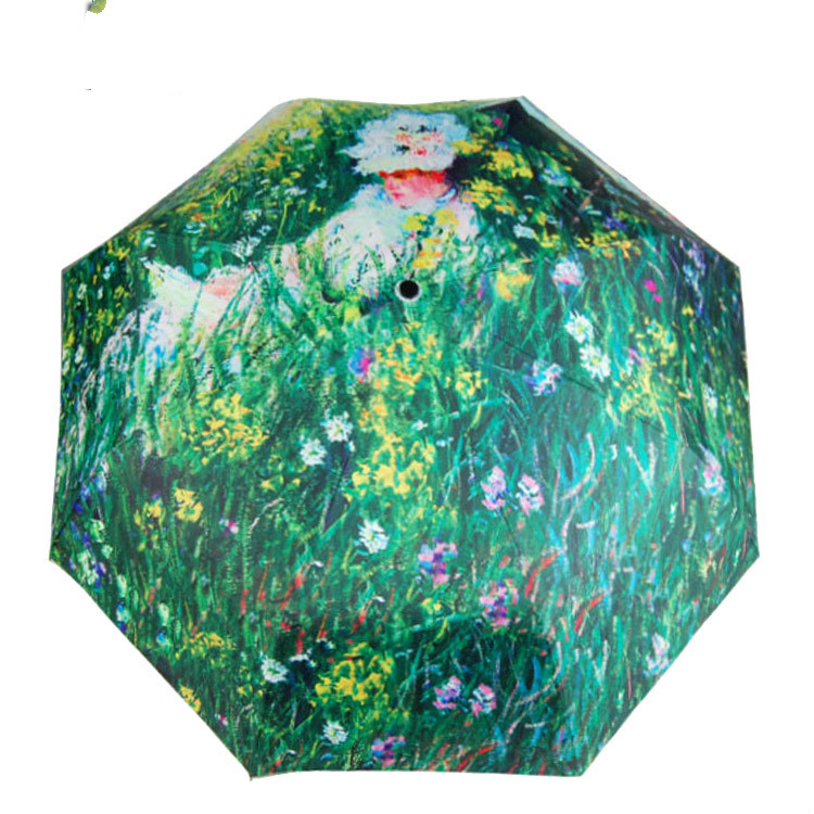 The latest paintings of Van Gogh's famous beauty garden umbrella sunshade art personality dual-purpose(China (Mainland))