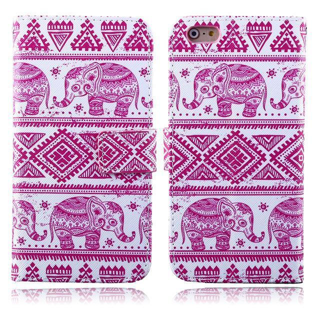 Painted design phone cases for iPhone 6 Plus 5.5 phone skins for iPhone 6 Plus Leather cover in stock(China (Mainland))