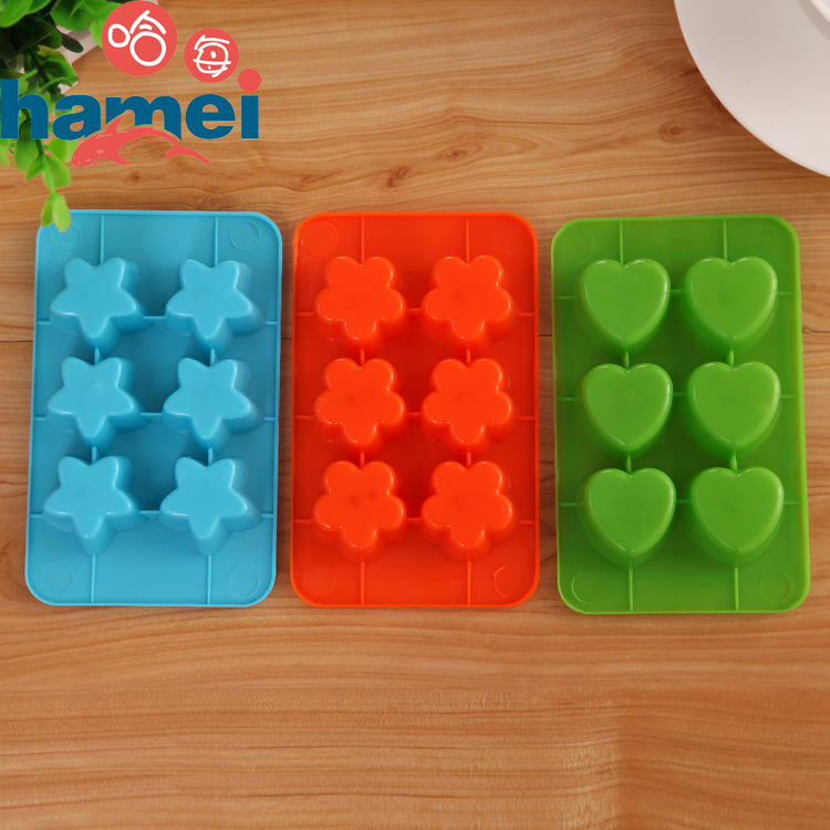 Plum star love ice mold ice lattice box ice cream popsicle Mold ice cream frozen tools(China (Mainland))
