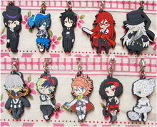 Normal Ver. Ciel Phantomhive Sebastian Joker Dagger Undertaker Anime Black Butler Book of Circus Rubber Resin Kawaii Keychain