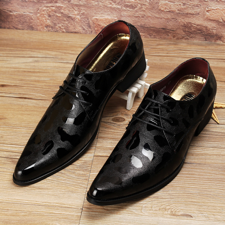 hot sale luxury italian brand men genuine leather pointed