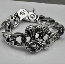 S925 Thai silver Motorcycle bracelets for cool Men jewelry punk style 925 Sterling Silver Bracelet HYB15(China (Mainland))