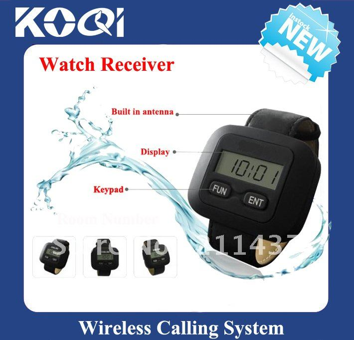 Pager Calling System,restaurant paging systems,wrist receiver. comptablie with single call button and mulit buttons(China (Mainland))