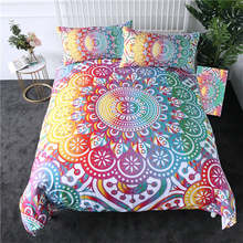BeddingOutlet Mandala Bedding Set Colorful Flower Duvet Cover Bohemian Printed Home Textiles Girly Rainbow Bedclothes 3-Piece(China)