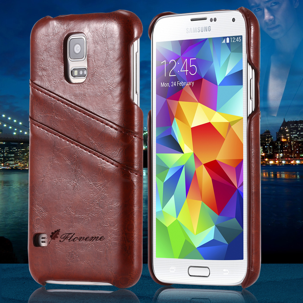 Vintage Luxury Grease Glazed Leather Case For Samsung Galaxy Note 4 N9100 IV Ultra Thin Card Slot Wallet Back Cover Bag Note4(China (Mainland))