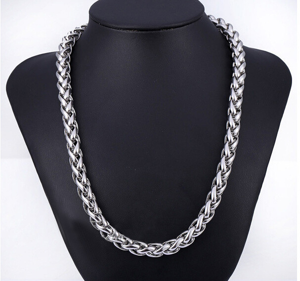 Customize 8MM Wide 316L Stainless Steel Thick Long Chains Necklace HIP-POP Boys Large Men's Titanium Steel Chain Necklace(China (Mainland))