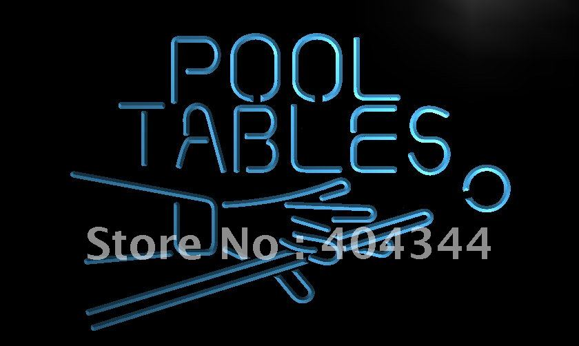 Lb009 pool tables room led neon light sign home decor for Room decor neon signs