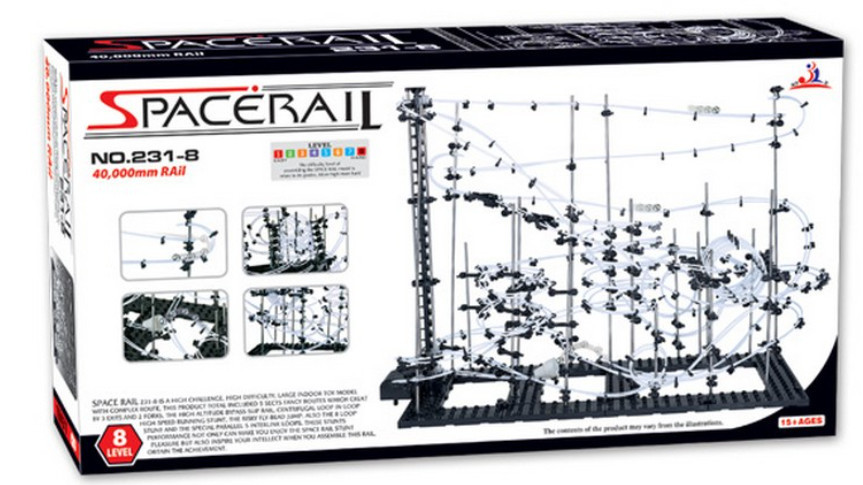 High Quality! New Space Rail Funny Model Building Kit RollerCoaster Toys SpaceRail Level 8, DIY Spacewarp Erector Set 40000mm(China (Mainland))