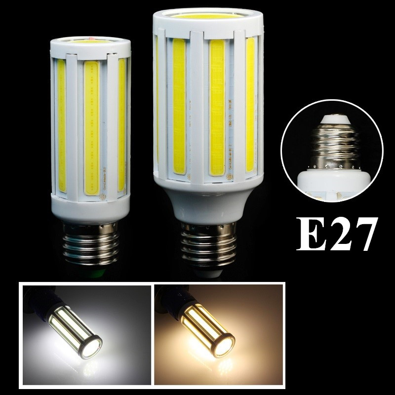 E27 9W/12W COB LED Corn Bulb Light Super Bright Cool White/Warm White 85-265V - XinJia store