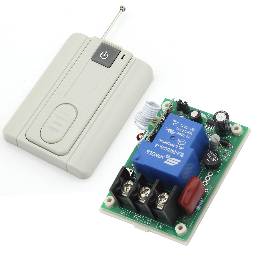 RF AC 220V 30A 1 Channel One Relay Wireless Learning Remote Control Switch Gary Transmitter<br><br>Aliexpress