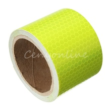 2016 Durable New For 300cm Fluorescence Yellow Reflective Safety Warning Conspicuity Tape pasted on ground or object surface(China (Mainland))