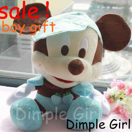 novelty item big size stuffed baby boy bed doll wedding plush toy mickey mouse room decor party decoration happy birthday gift<br><br>Aliexpress