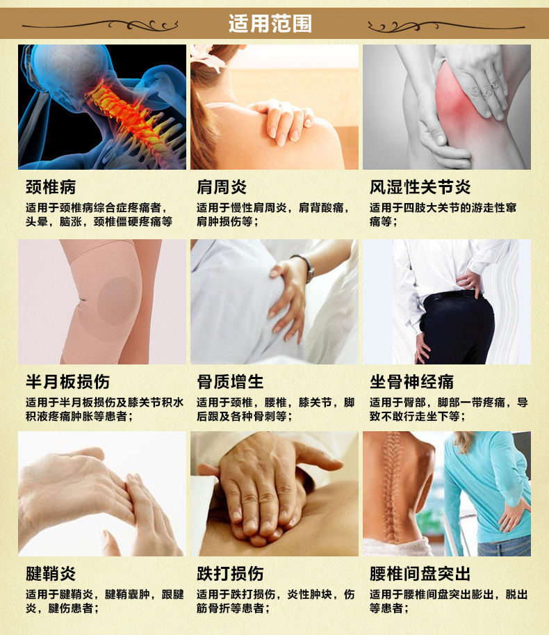 Shu meridians aching pain and joint pain the cervical vertebra disease, scapulohumeral periarthritis, lumbar disc herniation(China (Mainland))