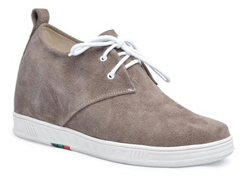 9091A - Khaki color fashion leather comfortable mens roller shoes grow taller 7CM -7 colors available