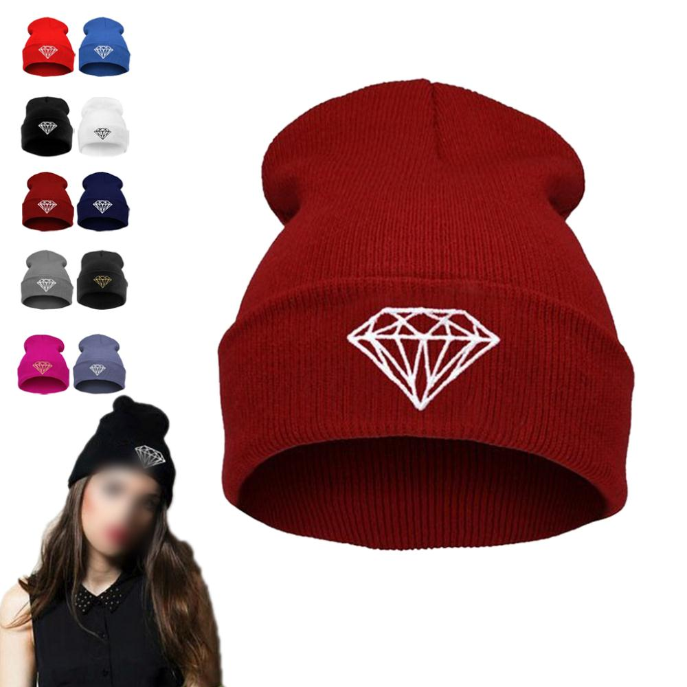 2015 Brand New Details about New Hip Hop Men s cap DIAMOND Beanies Winter Cotton knit