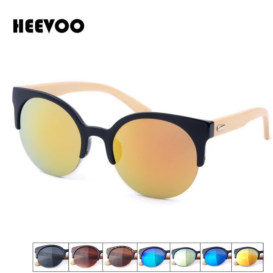 HEEVOO 2016 new fahsion Bamboo Sunglasses Women Brand Designer Mirror Original Wood Sun Glasses Oculos de sol masculino(China (Mainland))