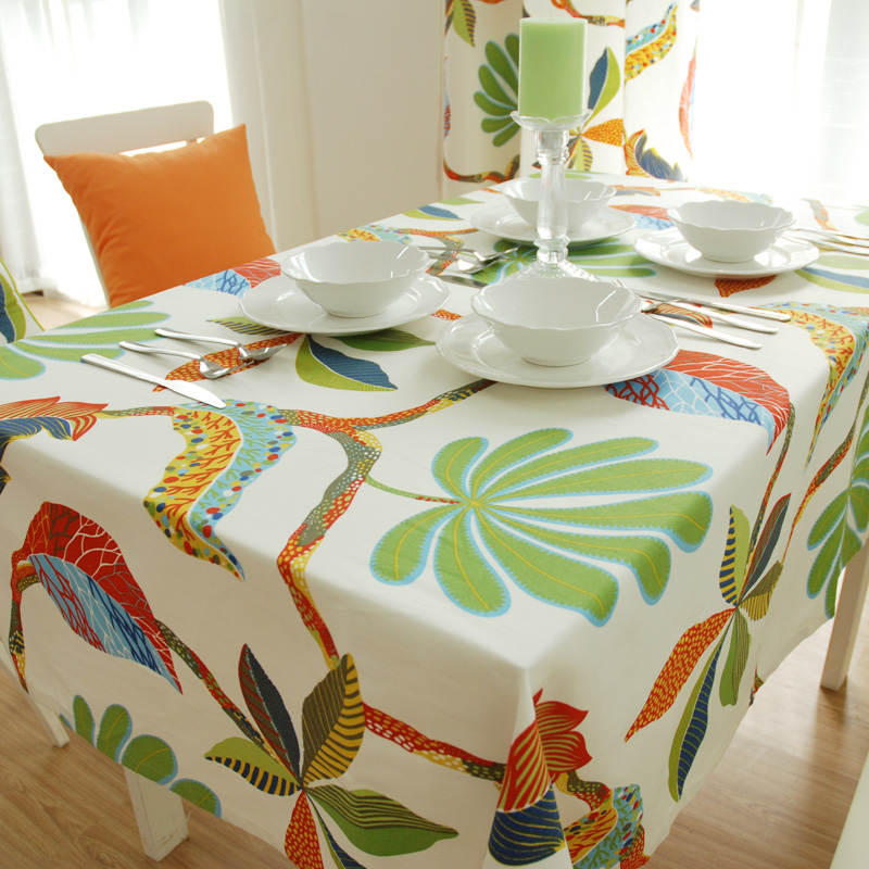wholesale Active 100% cotton canvas table cloth/white linen tablecloths/cheap banquet tablecloths(China (Mainland))
