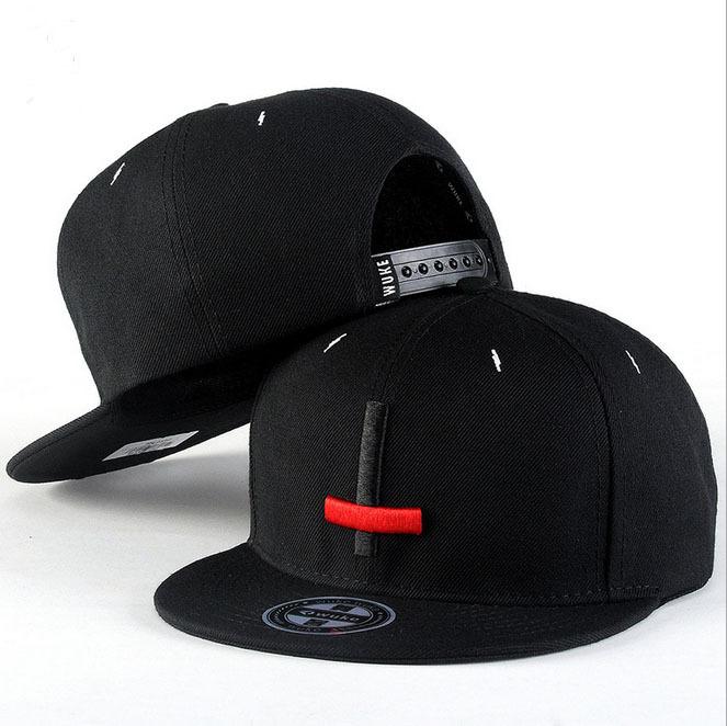 2015 New Brand Street Dance Cool Hip Hop Caps Embroidery Black Red Cross Snapback Snap Back Men Baseball Caps Hats Bone Hat(China (Mainland))