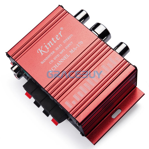 Mini Hifi Stereo Audio Amplifier Cheap 12V MP3 Hi Fi Small Home Car Motorcycle Audio Amps Systems For Sale(China (Mainland))