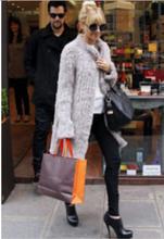 New DHL/EMS Free Shipping Women rabbit fur coat Knitted Real Genuine Natural Rabbit Fur coat winter thick Warm Long Coat F678(China (Mainland))