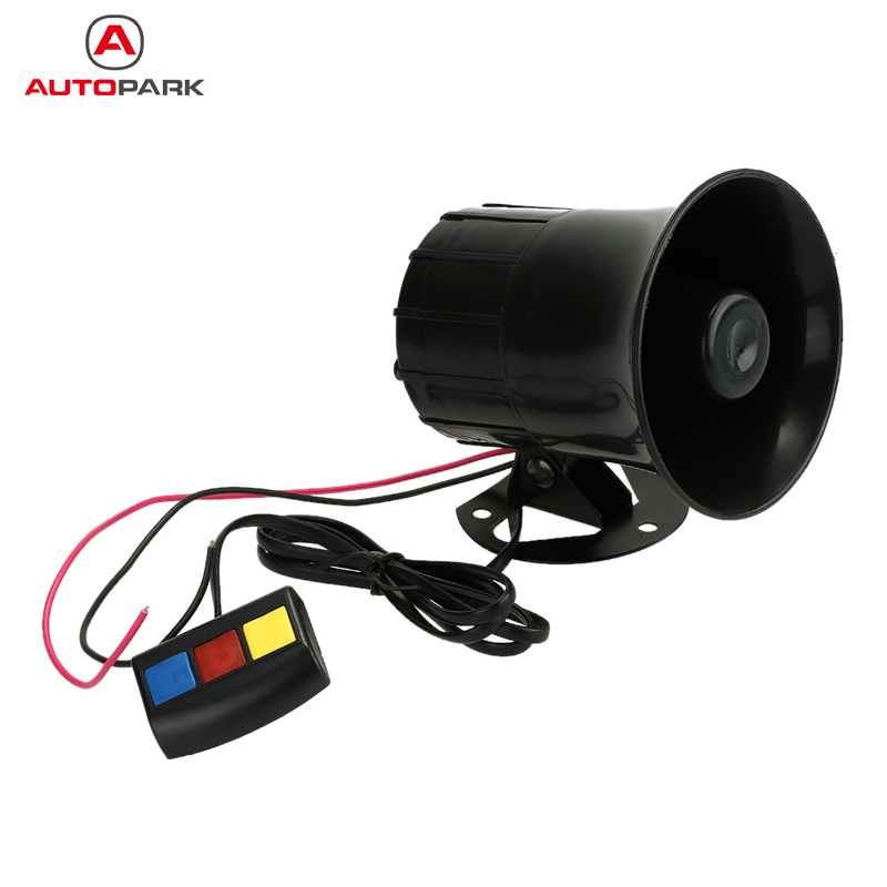 Motorcycle Car Loud Siren Security Horn 12V with 3 Sounds Vehicle Emergency Alarm Loudspeaker for E-bike Truck Moped(China (Mainland))