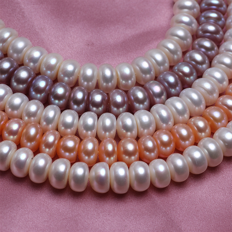 7-8/8-9/9-10 mm Real Natural Pearl Necklace Women Freshwater Pearl Jewelry Choker Necklace White, Pink, Purple Pearl
