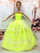 NK One Pcs Princess Doll New handmake wedding Dress Fashion Clothing Gown For Barbie Hot Dolls Accessories Best Gift 036A