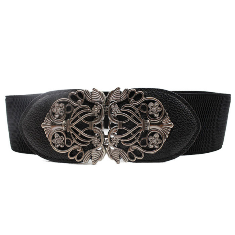 Гаджет  Amazing New Alloy Flower Vintage Belt For Women Lady Wide Elastic Belt Waistband for Fashion Apparel Accessories None Одежда и аксессуары