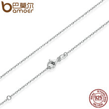 Buy BAMOER Classic Basic Chain 100% 925 Sterling Silver Lobster Clasp Adjustable Necklace Chain Fashion Jewelry SCA009-45 for $4.99 in AliExpress store