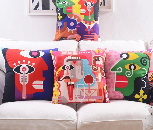 King And Queen Decorative Pillows : Cartoon King And Queen Crown Cushion Cover Home Decor Pillow Case Super soft Velvet Pillows ...