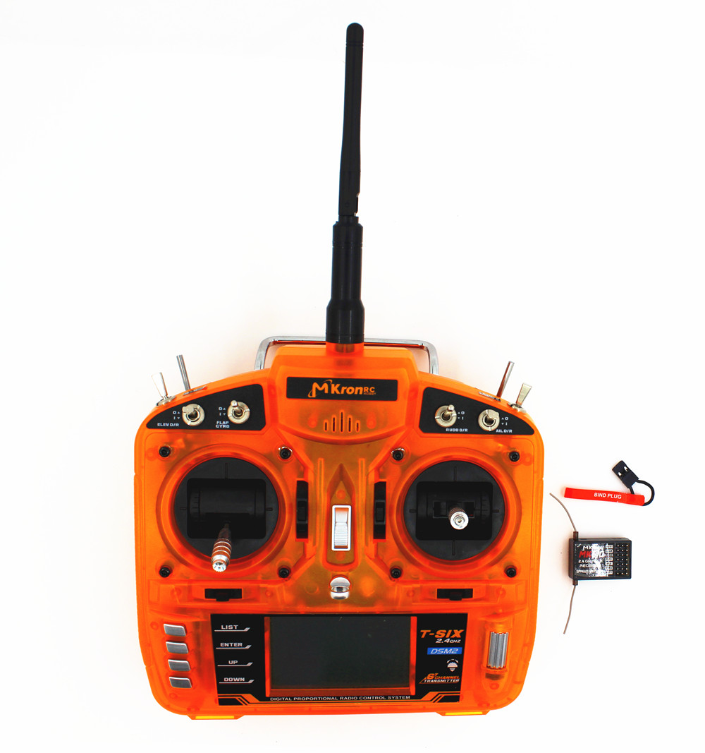 Full Range 2.4GHz 6 CH Transmitter W/ Large LCD display W/ MK610 RX Receiver Surpass DX6i JR FUTABA for Helicopters,Quadcopters