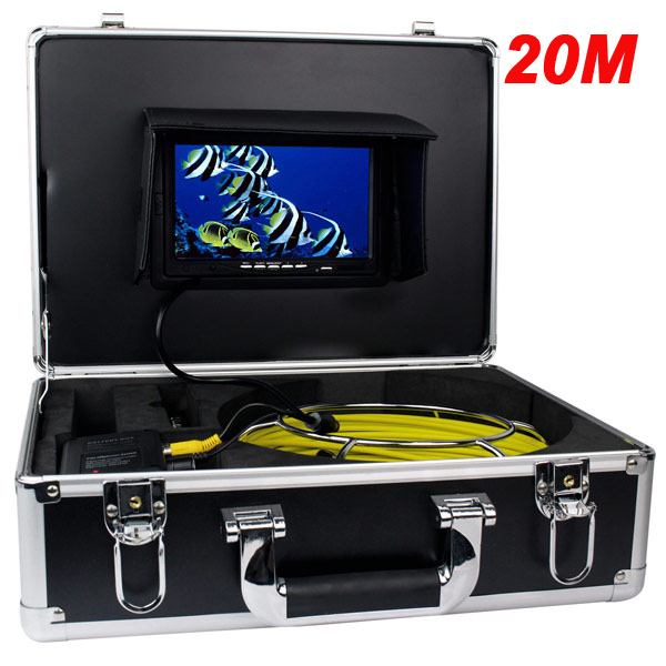 Гаджет  7* TFT Color Sewer Pipe Inspection Video Camera System Regulation Stainless Steel Lens Anti-corrosion Pipeline Drain W2022A20 None Безопасность и защита