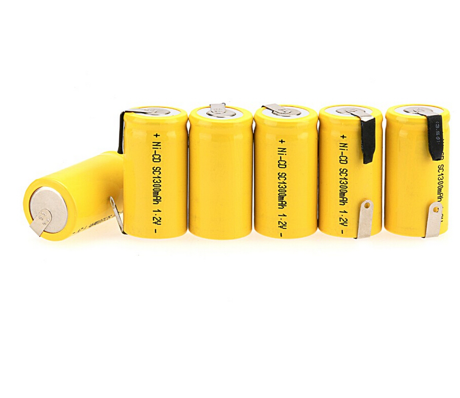 clearance sale 15 PCS Sub C SC 1 2V 1300mAh Ni Cd NiCd Rechargeable Battery 4
