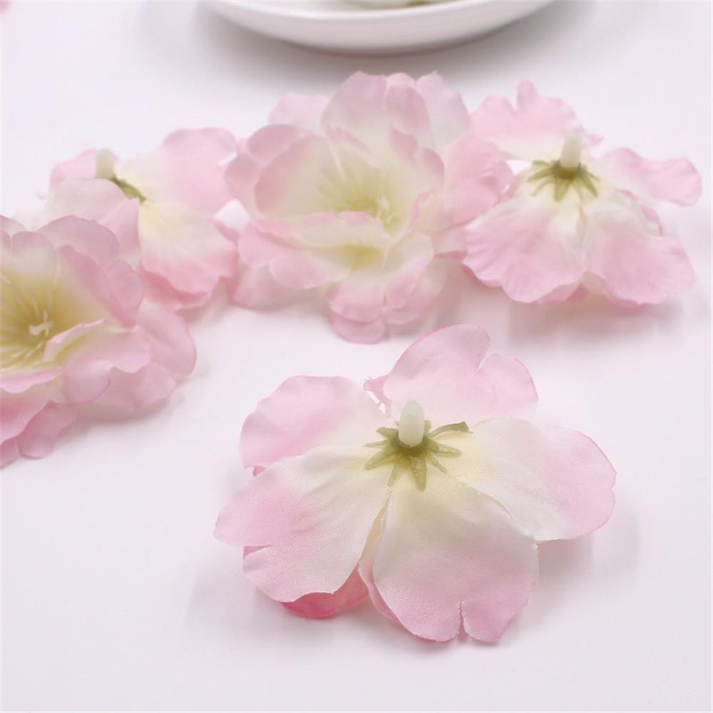 2018 Mini Fabric Cherry Plum Blossom Artificial Flower Silk Baby