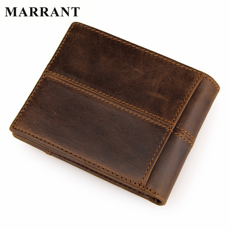 MARRANT New Arrive Brand Men Genuine Leather Wallets Card Holder Fashion Purse High Quality Business Mini Wallet Free Shipping(China (Mainland))