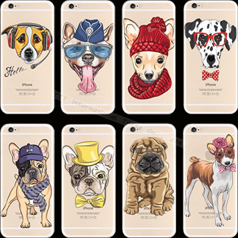 Popular Fashion Pattern Dogs Silicon Phone Cover Cases For Apple iPhone 4 iPhone 4S iPhone4 iPhone4S Case Shell Newest Fashion(China (Mainland))