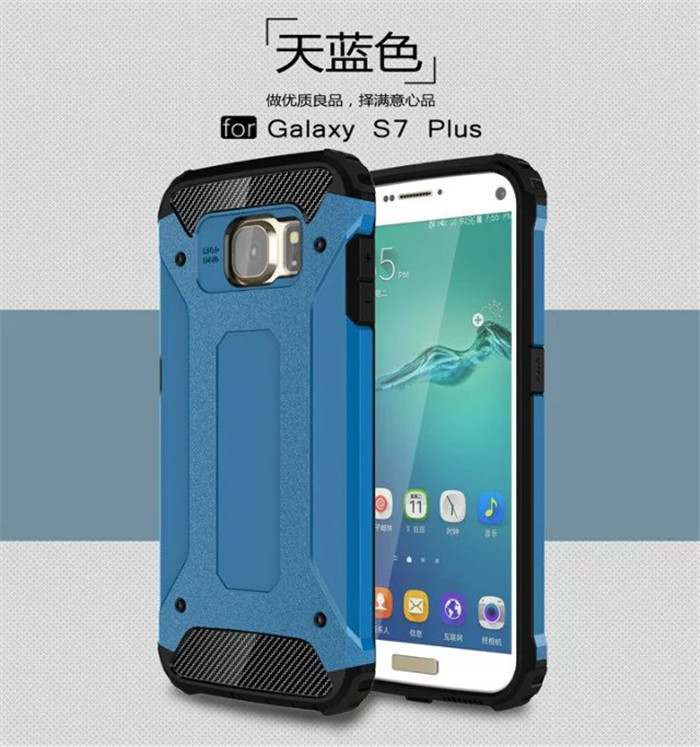 Hybrid Durable Armor Case For Samsung Galaxy S7 / S7 Edge / S7 Plus Silicone + PC Shockproof Hard Rugged Cases Cover Back Coque