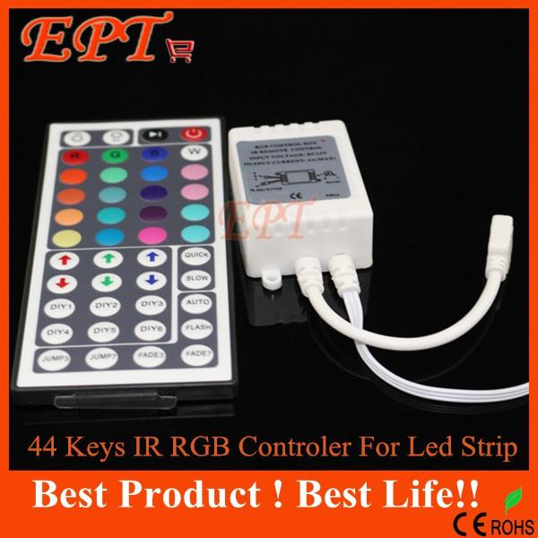 1PC 44 Keys LED IR RGB Controler LED Lights Controller IR Remote Dimmer Input DC12V 6A For RGB SMD 3528 5050 LED Strip(China (Mainland))