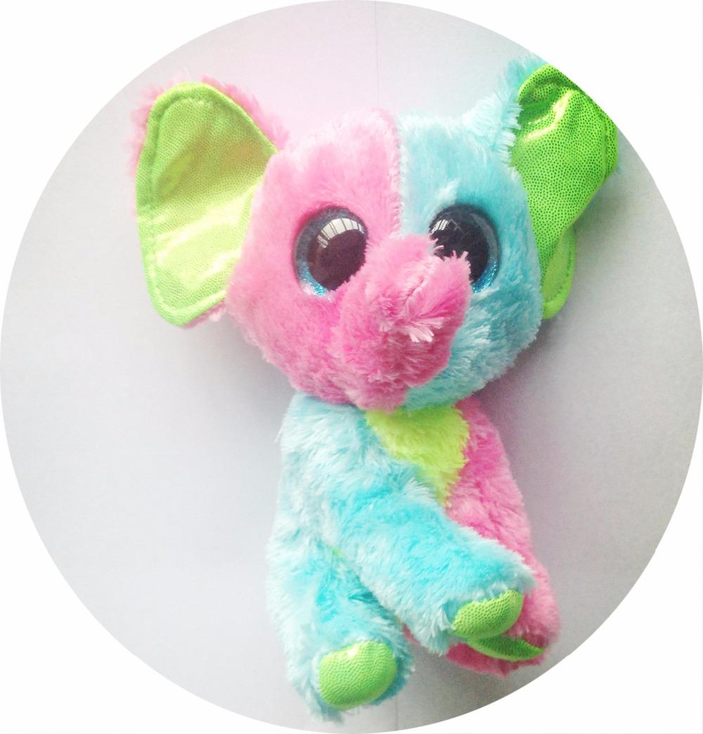 2016 new TY Beanie Boos Elephant Stuffed Plush Animals 15cm Soft Mini lovely troll doll hot toys for children hot sale(China (Mainland))