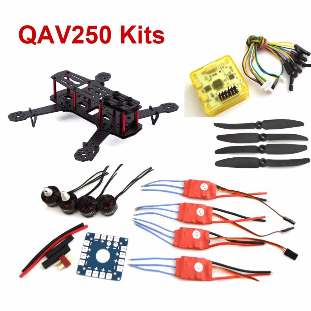QAV250 RC font b Drone b font Frame Unassembled Emax Brushless MT1806 2280kv Motor 12A Simonk