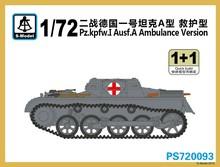 S-modelo PS720093 1/72 pz. kpfw. I ausf. un ambulancia modelo de plástico versión