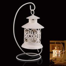 Iron Moroccan Style Candlestick Candleholder Candle Stand Lantern White NVIE(China (Mainland))