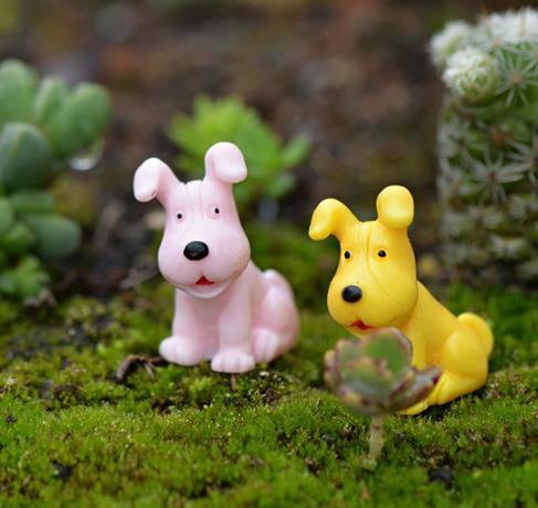 Chiens figurines promotion achetez des chiens figurines for Decoration chien resine