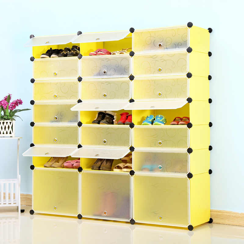 Young Home Simple shoe dust rack cabinet three simple combination of multi-layered plastic Specials<br><br>Aliexpress
